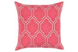 Accent Pillow-Norinne Geo Carnation/Light Grey 20X20