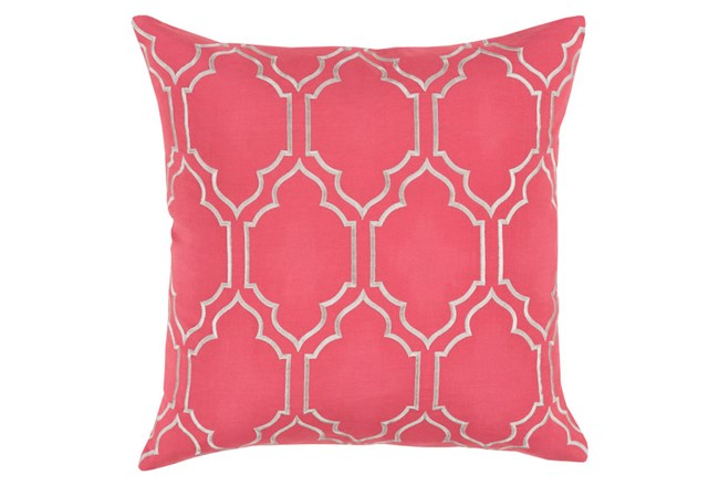 Accent Pillow-Norinne Geo Carnation/Light Grey 20X20 - 360