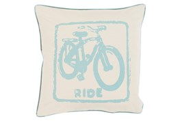 Accent Pillow-Ride Moss/Beige 20X20
