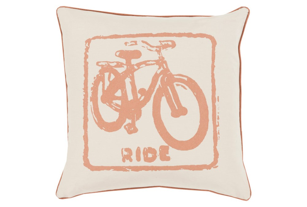Accent Pillow-Ride Tan/Beige 18X18