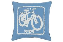 Accent Pillow-Ride Cobalt/Beige 18X18