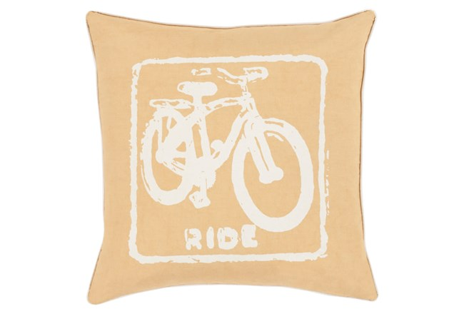 Accent Pillow-Ride Gold/Ivory 18X18 - 360