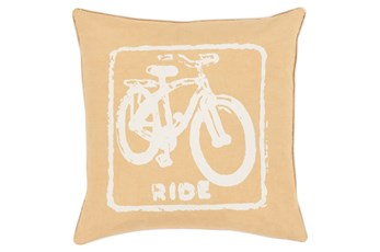 Accent Pillow-Ride Gold/Ivory 20X20