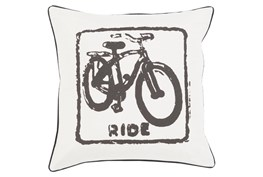 Accent Pillow-Ride Black/Light Grey 18X18