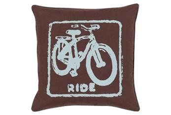 Accent Pillow-Ride Black/Slate 18X18