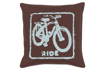 Accent Pillow-Ride Black/Slate 20X20