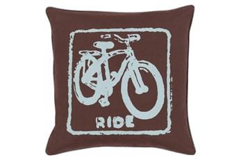 Accent Pillow-Ride Black/Slate 20X20