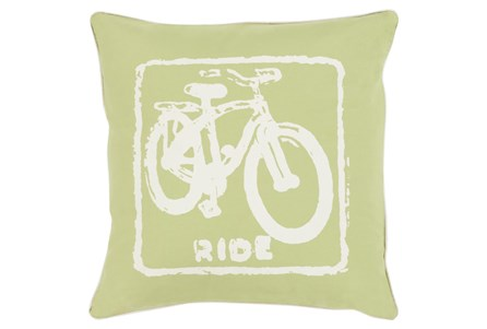 Accent Pillow-Ride Lime/Ivory 18X18