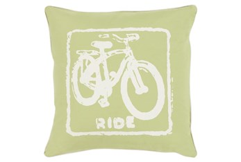 Accent Pillow-Ride Lime/Ivory 20X20