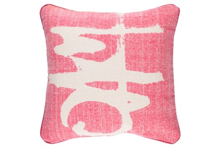 Accent Pillow-Amos Abstract Light Grey/Pink 20X20