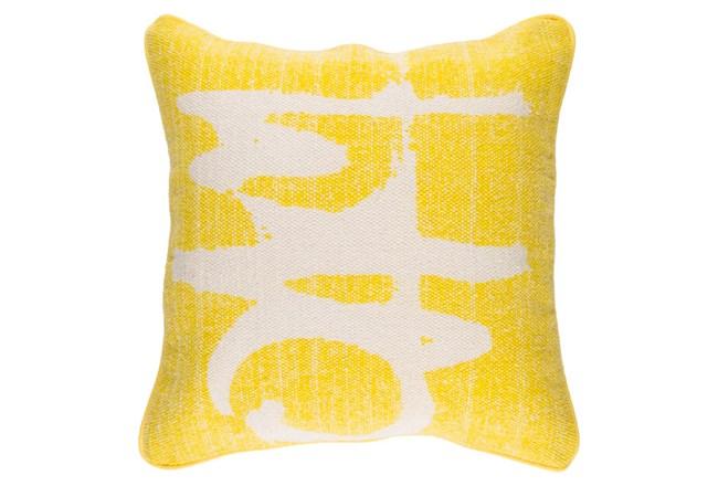 Accent Pillow-Amos Abstract Light Grey/Lemon 20X20 - 360