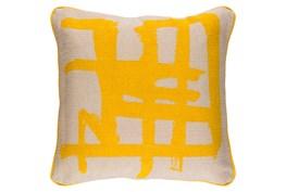 Accent Pillow-Amos Abstract Light Grey/Lemon 20X20