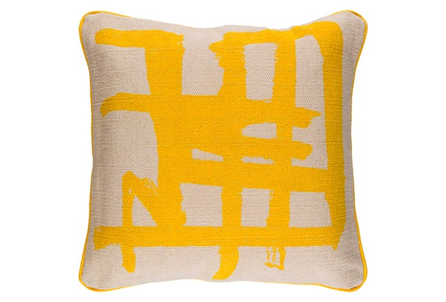 Accent Pillow-Amos Abstract Light Grey/Lemon 20X20 - 360
