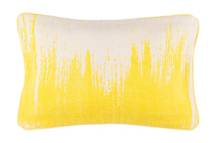 Accent Pillow-Nas Abstract Light Grey/Lemon 14X22