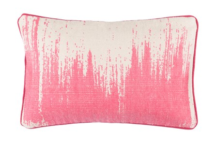 Accent Pillow-Nas Abstract Light Grey/Pink 14X22