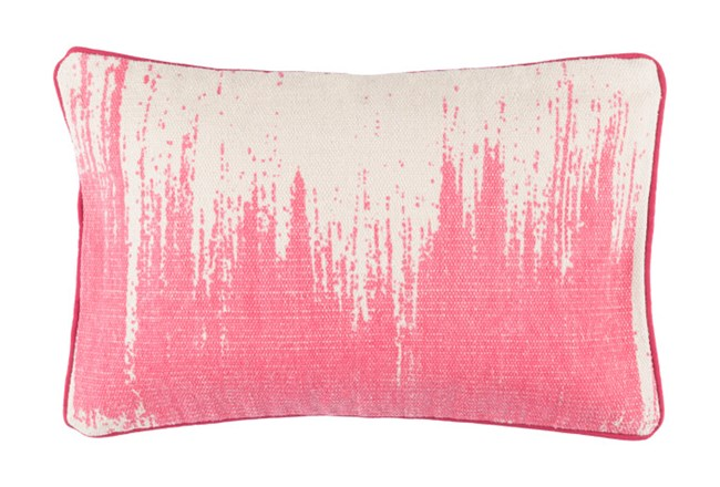 Accent Pillow-Nas Abstract Light Grey/Pink 14X22 - 360