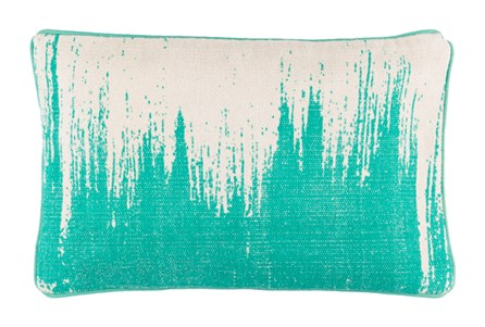 Accent Pillow-Nas Abstract Teal/Light Grey 14X22