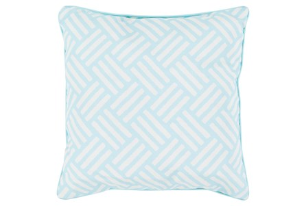 Accent Pillow-Crossweave Geo Teal/Ivory 20X20