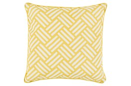 Accent Pillow-Crossweave Geo Gold/Ivory 20X20