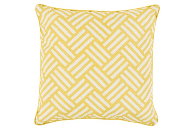 Accent Pillow-Crossweave Geo Gold/Ivory 20X20 - 360