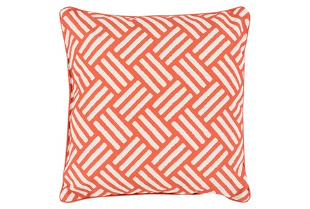 Accent Pillow-Crossweave Geo Rust/Ivory 20X20