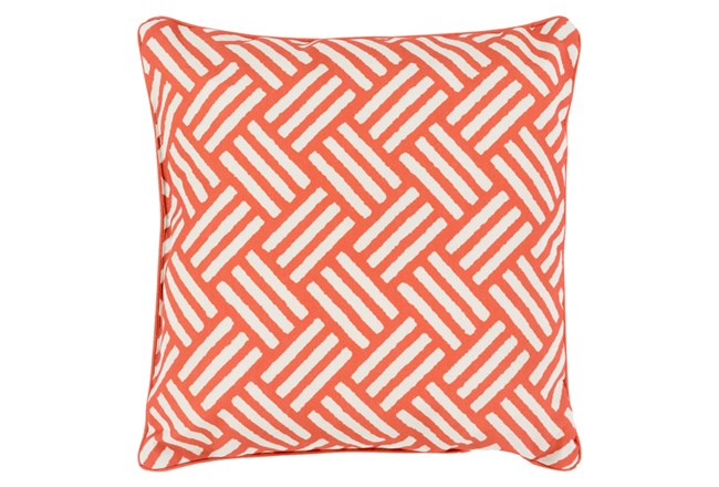 Accent Pillow-Crossweave Geo Rust/Ivory 20X20 - 360