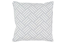 Accent Pillow-Crossweave Geo Light Grey/Ivory 20X20