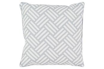 Accent Pillow-Crossweave Geo Light Grey/Ivory 20X20