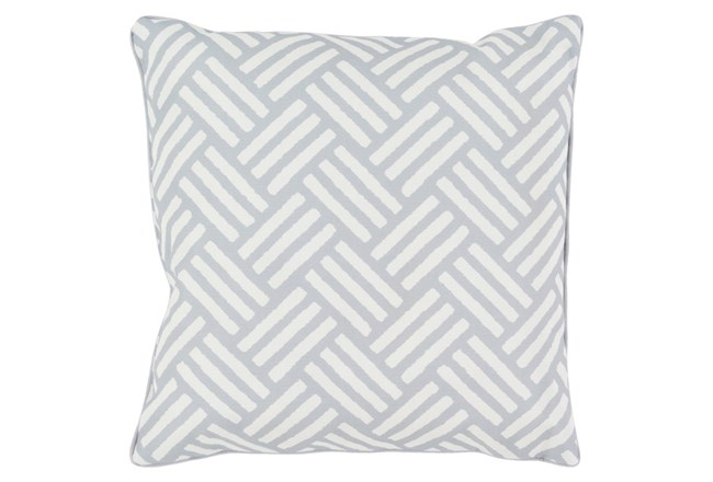 Accent Pillow-Crossweave Geo Light Grey/Ivory 20X20 - 360