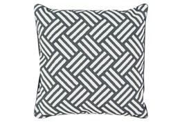 Accent Pillow-Crossweave Geo Black/Ivory 20X20