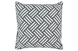Accent Pillow-Crossweave Geo Black/Ivory 20X20