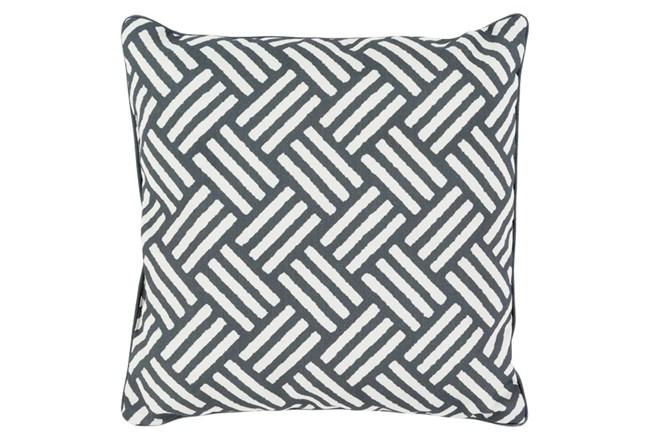 Accent Pillow-Crossweave Geo Black/Ivory 20X20 - 360