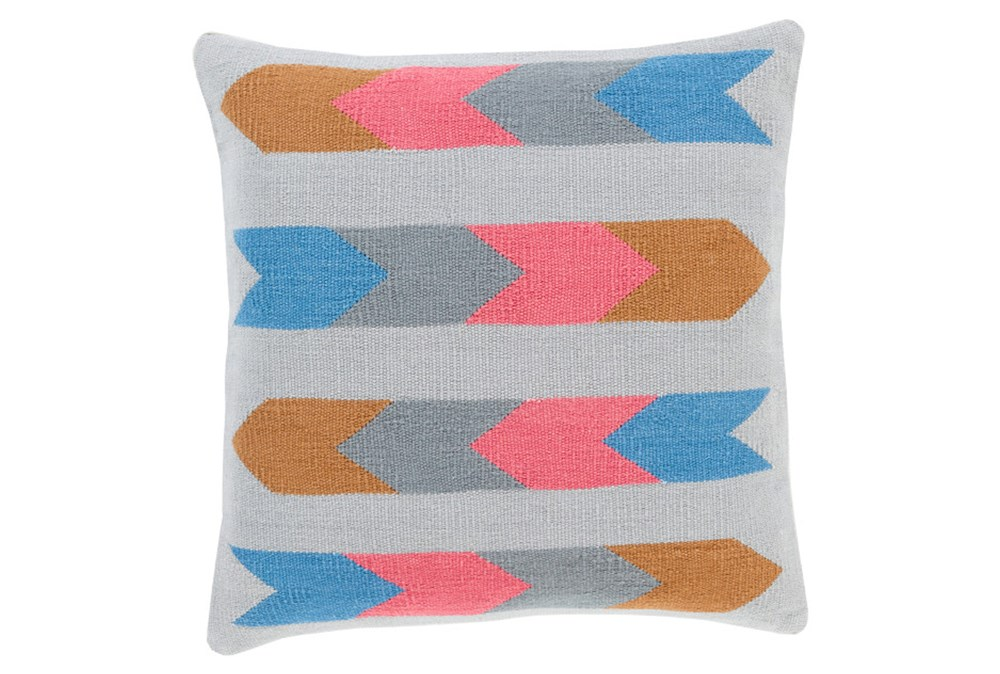 Accent Pillow-Arrow Abstract Grey Multi 18X18