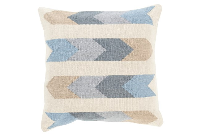 Accent Pillow-Arrow Abstract Beige Multi 18X18 - 360