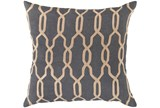 Accent Pillow-Chains Geo Teal 22X22 - Signature