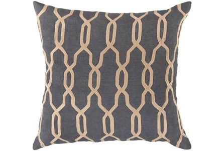 Accent Pillow-Chains Geo Teal 22X22