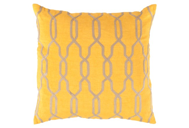 Accent Pillow-Chains Geo Yellow 22X22 - 360