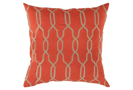 Accent Pillow-Chains Geo Poppy 22X22