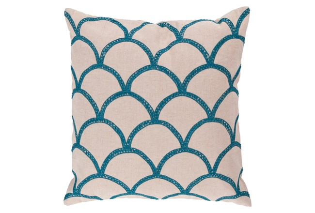 Accent Pillow-Scales Geo Ivory/Teal 22X22 - 360