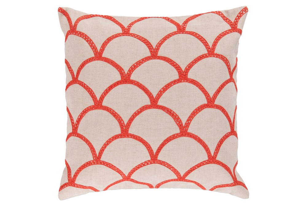 Accent Pillow-Scales Geo Ivory/Poppy 18X18