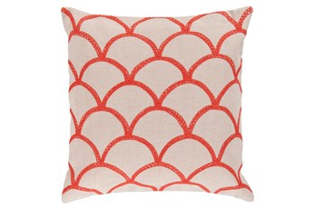 Accent Pillow-Scales Geo Ivory/Poppy 22X22