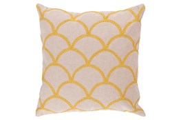 Accent Pillow-Scales Geo Ivory/Sunflower 22X22