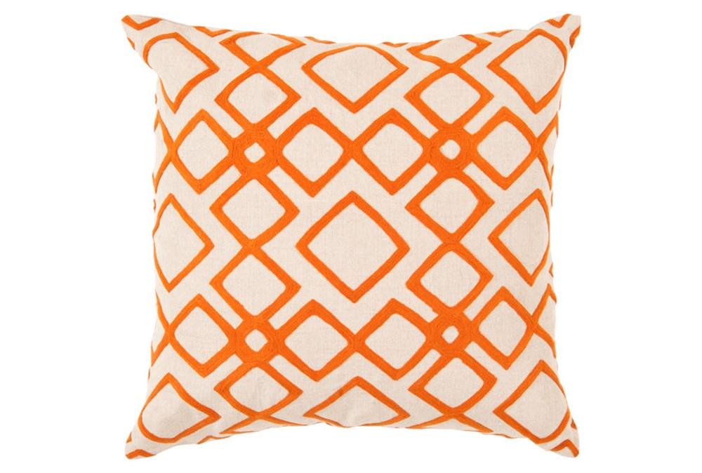 Accent Pillow-Blocks Geo Ivory/Orange 18X18