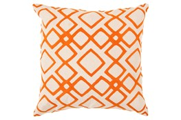 Accent Pillow-Blocks Geo Ivory/Orange 18X18