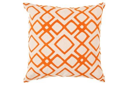 Accent Pillow-Blocks Geo Ivory/Orange 22X22 - Main