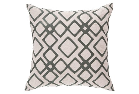 Accent Pillow-Blocks Geo Ivory/Charcoal 18X18