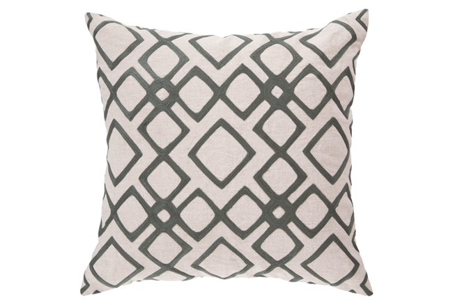Accent Pillow-Blocks Geo Ivory/Charcoal 18X18 - 360