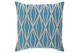 Accent Pillow-Twines Geo Aqua/Beige 18X18 - Signature