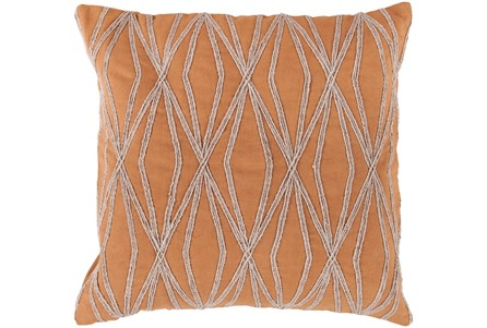 Accent Pillow-Twines Geo Orange/Beige 18X18