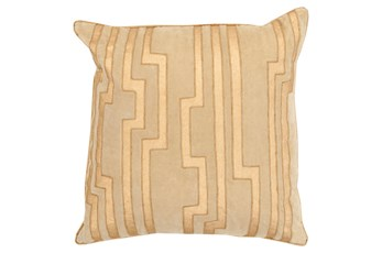 Accent Pillow-Avion Geo Gold 18X18